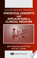Statistical Concepts And Applications In Clinical Medicine Book PDF