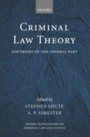 Criminal Law Theory