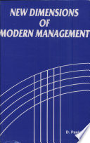 New Dimensions in Modern Management