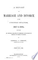 A Report on Marriage and Divorce in the United States