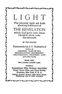 Light The Physical Facts Set Forth Showing Fulfilment Of The Revelation Which God Gave Unto Jesus Christ To Show Unto His Servants