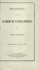 Proceedings of The Academy of Natural Sciences (No. 2 -- March and April, 1864)