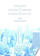 Frontiers of Distance Learning in Business Education