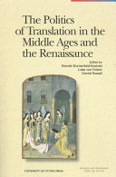 The Politics of Translation in the Middle Ages and the Rennaissance Pdf/ePub eBook