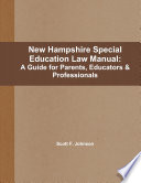 New Hampshire Special Education Law Manual