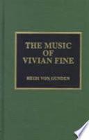 The Music of Vivian Fine
