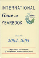 International Geneva Yearbook 2004-2005