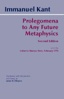 Prolegomena to Any Future Metaphysics  Second Edition