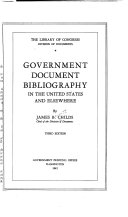 Government Document Bibliography in the United States and Elsewhere