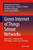 Green Internet of Things Sensor Networks Book