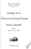 Catálogo de la Biblioteca Luis-Angel Arango, Fondo Colombia