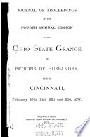 Journal of Proceedings of the Ohio State Grange Book