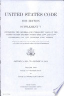 United States Code 2012 Edition Supplement V