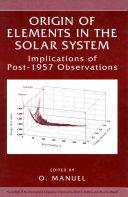Origin of Elements in the Solar System Pdf/ePub eBook