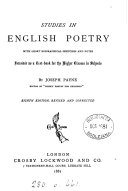 Studies in English poetry  an anthology  with biogr  sketches and notes by J  Payne
