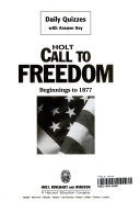 Call to Freedom Book