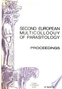 Second European Multicolloquy of Parasitology