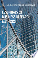 Essentials Of Business Research Methods Book