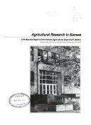 Agricultural Research in Kansas Book