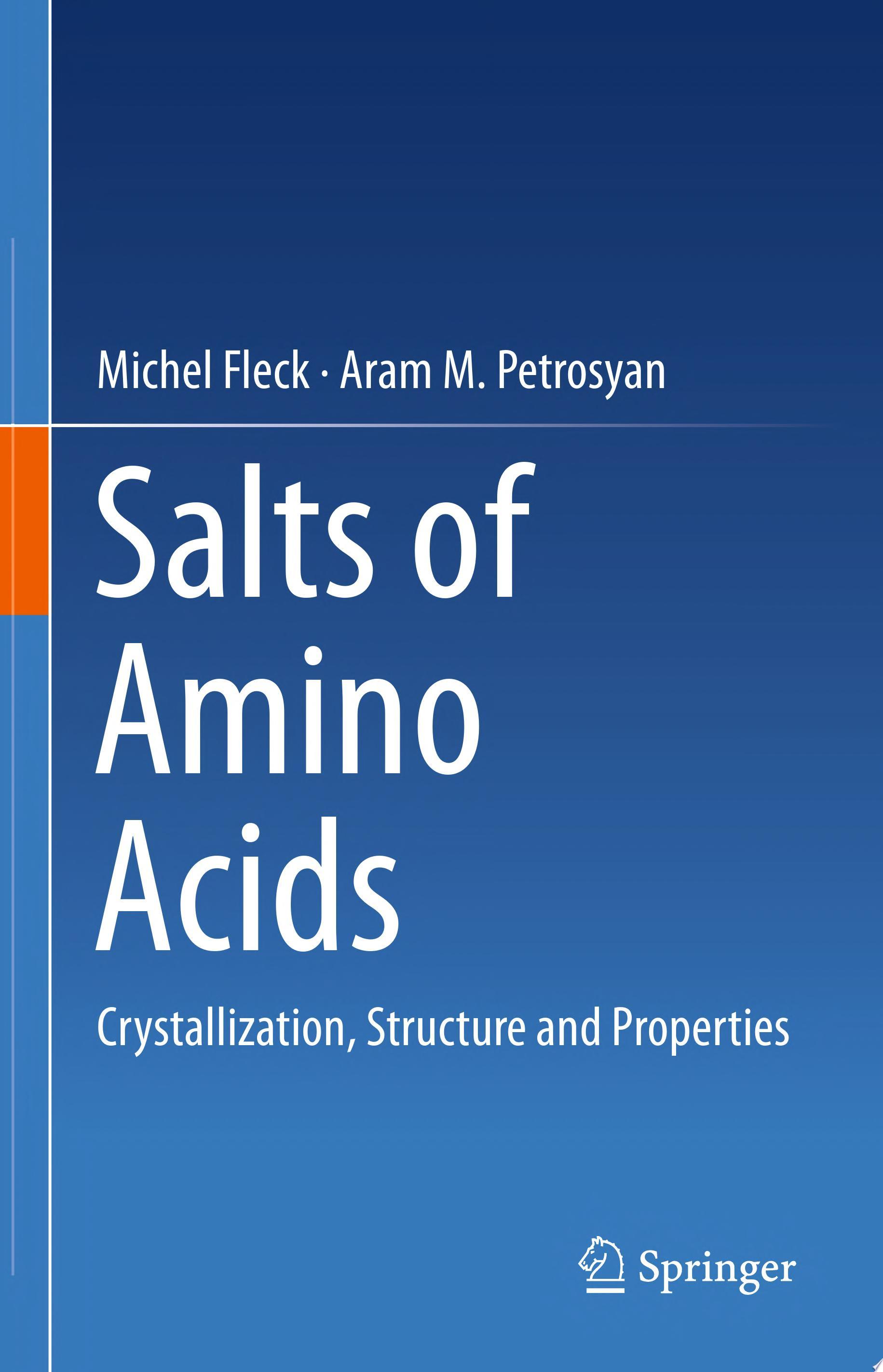 Salts of Amino Acids