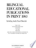 Bilingual Educational Publications in Print
