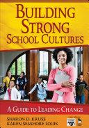Building Strong School Cultures Pdf/ePub eBook