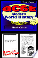 GCSE Modern World History Test Prep Review  Exambusters Flash Cards