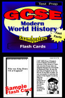 GCSE Modern World History Test Prep Review--Exambusters Flash Cards