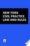 New York Civil Practice Law and Rules 2016