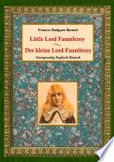 Der kleine Lord Fauntleroy   Little Lord Fauntleroy  Zweisprachig Englisch Deutsch  Book