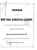 New York Municipal Gazette ebook