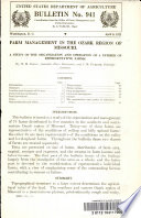 Farm Management in the Ozark Region of Missouri