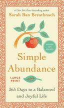 Simple Abundance Book