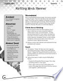 Writing Lesson Level K Writing Block Planner Book PDF