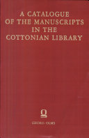 Catalogue of the manuscripts in the Cottonian Library deposited in the British Museum Pdf/ePub eBook