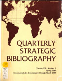 Quarterly Strategic Bibliography