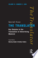 Key Debates in the Translation of Advertising Material