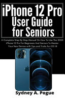 IPhone 12 Pro User Guide for Seniors
