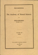 Pdf Proceedings of The Academy of Natural Sciences (Vol. XCI, 1939) Telecharger