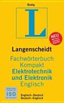 Langenscheidt Fachw  rterbuch kompakt Elektrotechnik und Elektronik Englisch