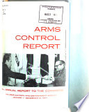 Annual Report to Congress   Arms Control and Disarmament Agency