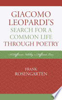 Giacomo Leopardi   s Search For A Common Life Through Poetry