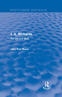 I  A  Richards  Routledge Revivals