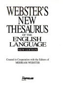 Pdf Websters New Thesarus