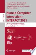 Human-Computer Interaction – INTERACT 2021