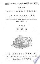 Ferdinand Van Den Heuvel Of De Beloonde Deugd