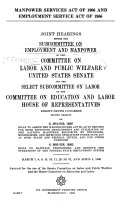 Manpower Services Act of 1966 and Employment Service Act of 1966