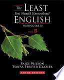 The Least You Should Know About English, Form B