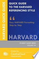 QUICK GUIDE TO THE HARVARD REFERENCING STYLE