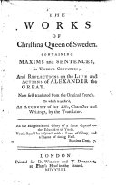 The Works of Christina Queen of Sweden